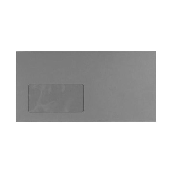 DL Storm Grey Window 120gsm Peel & Seal Envelopes [Qty 250] 114 x 229mm (2131469336665)