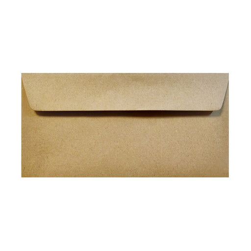 DL Recycled Kraft Fleck 110gsm Peel & Seal Envelopes [Qty 250] 110mm x 220mm