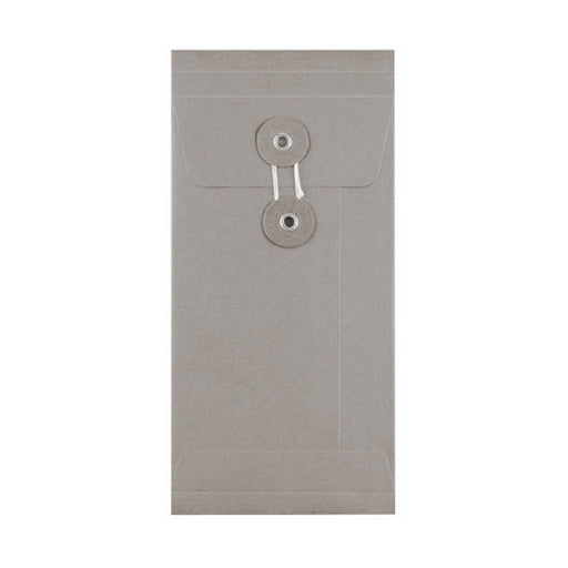 DL Grey Gusset String & Washer Envelopes [Qty 100] 220 x 110 x 25mm
