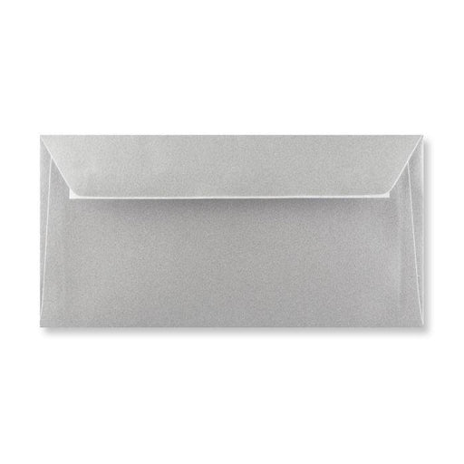 DL Metallic Silver 120gsm Peel & Seal Envelopes [Qty 250] 110 x 220mm
