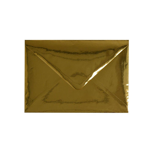62 x 94 Metallic Gold Mirror Finish 120gsm Gummed Envelopes [Qty 100] (2131247497305)