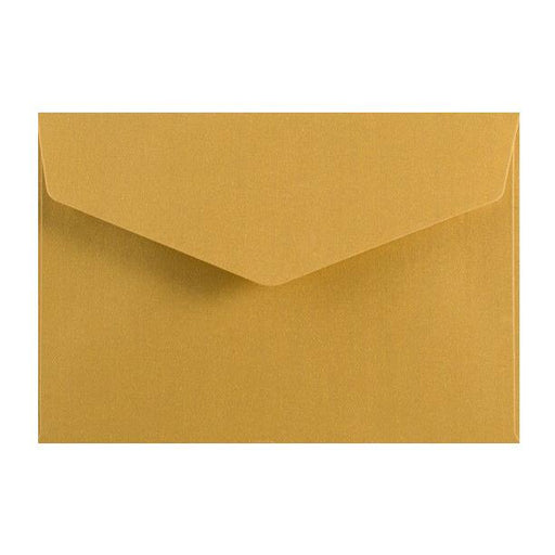 Gold Business Card Envelopes 120gsm Peel & Seal [Qty 250] 62 x 94mm