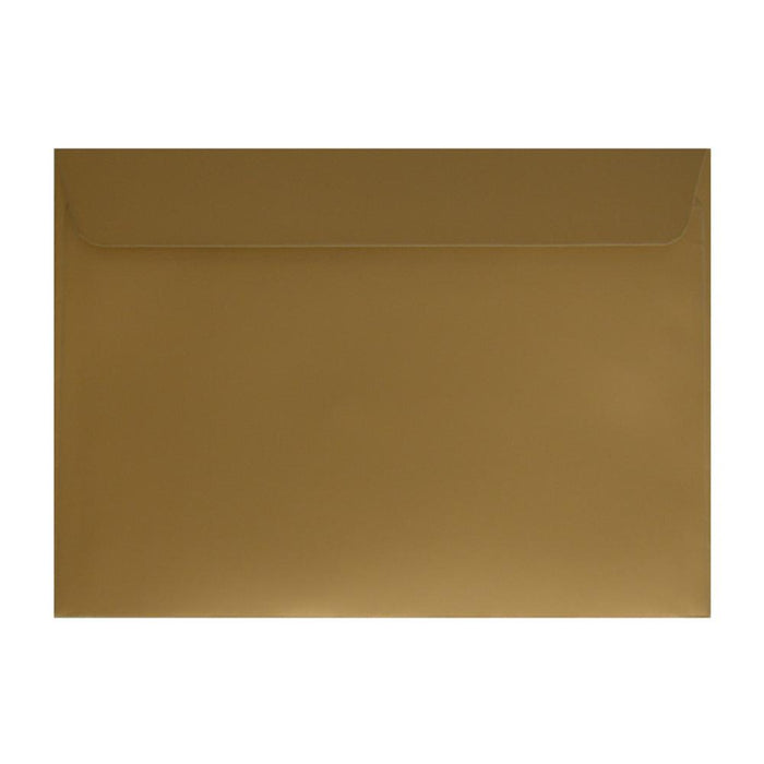 C5 Metallic Gold 130gsm Peel & Seal Envelopes 162 x 229mm [Qty 250] (2131298713689)