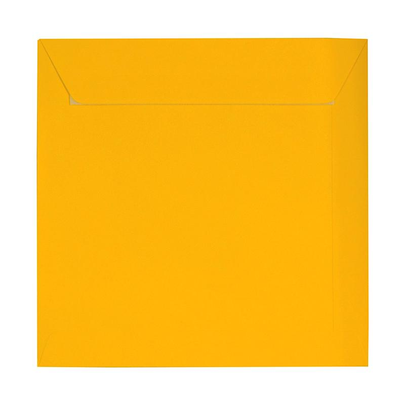 230 x 230 Square Golden Yellow Peel & Seal Envelopes [Qty 250] (2131287441497)