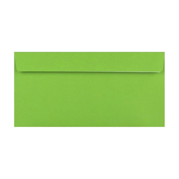 DL Green 120gsm Peel & Seal Envelopes [Qty 500] 110 x 220mm (2131041058905)