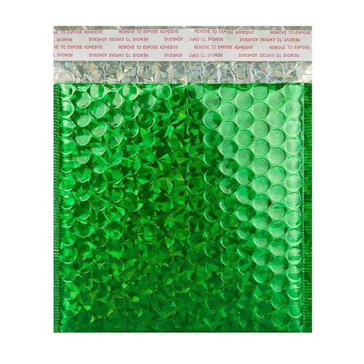 165 x 165 Green Holographic Bubble Bags [Qty 100] (2131383648345)