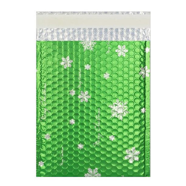 C5+ Matt Green Christmas Padded Bubble Envelopes [Qty 100] 180mm x 250mm (2131284000857)