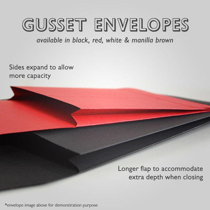 C6 Red Gusset 180gsm Envelopes [Qty 200] 162 x 114 x 25mm (2131324305497)