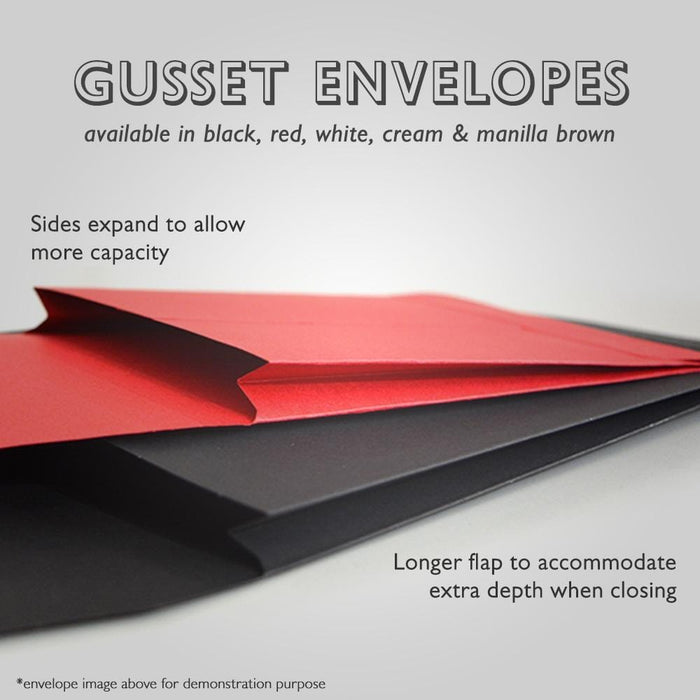 C5 Red Window Gusset 140gsm Peel & Seal Envelopes [Qty 125] 162 x 229mm (2131191365721)
