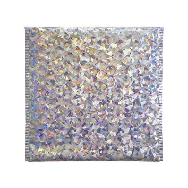 165 x 165 Metallic Silver Holographic Padded Bubble Envelopes [Qty 100]
