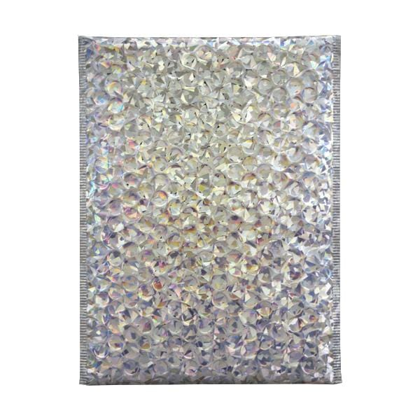 C4 Metallic Silver Holographic Padded Bubble Envelopes [Qty 100] 230mm x 324mm