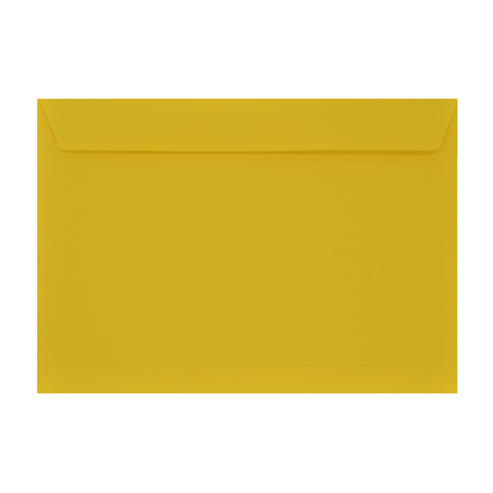 C4 Mid Yellow 120gsm Peel & Seal Wallet Envelopes [Qty 250] 229 x 324mm