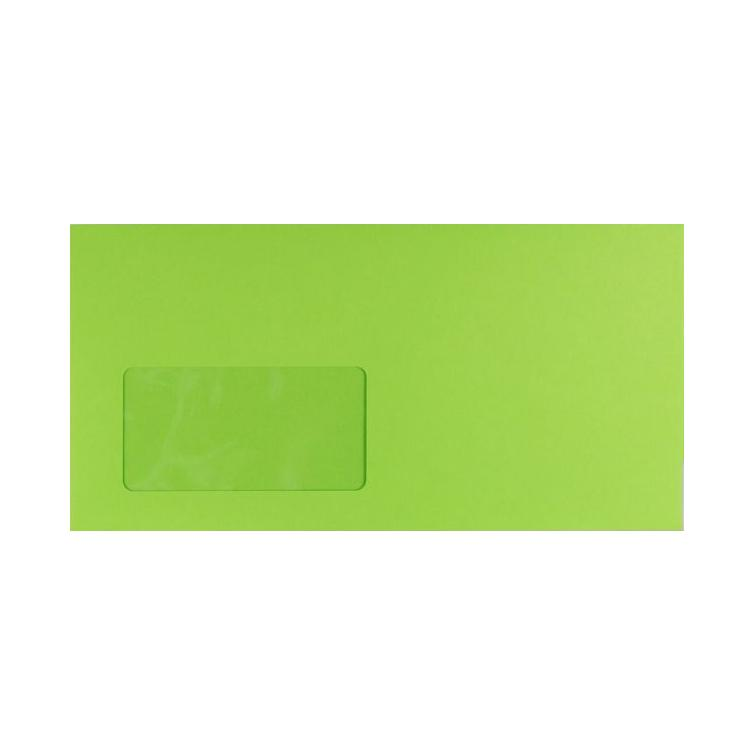 DL Lime Green Window 120gsm Peel & Seal Envelopes [Qty 250] 114 x 229mm (2131315818585)