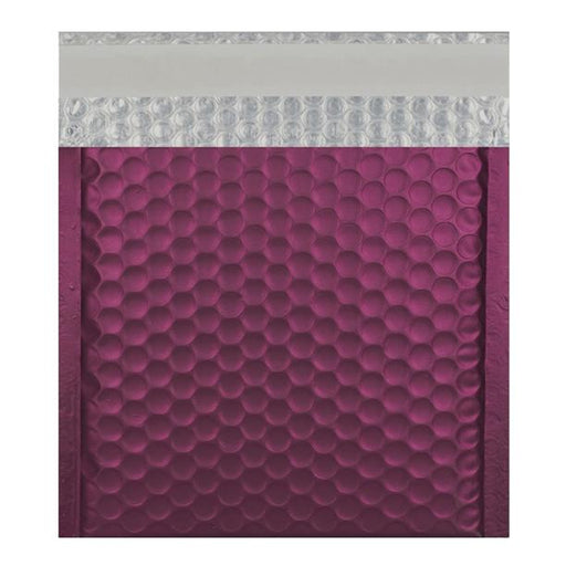 165 x 165 Matt Burgundy Padded Bubble Envelopes [Qty 100]