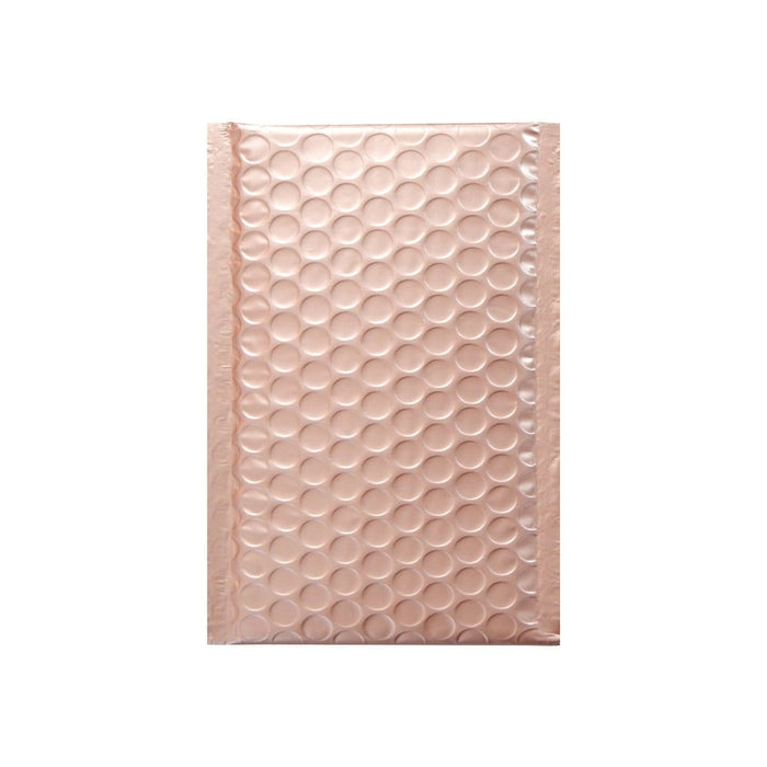 100 x 185 Matt Rose Gold Blush Padded Bubble Envelopes [Qty 100] (2131432472665)