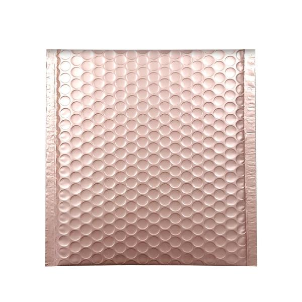165 x 165 Matt Rose Gold Blush Padded Bubble Envelopes [Qty 100] (4252042231897)