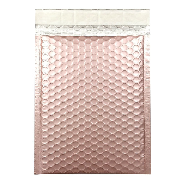 C5+ Matt Rose Gold Blush Padded Bubble Envelopes [Qty 100] 180mm x 250mm (2131431620697)