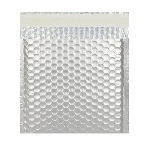 270 x 270 Matt Silver Padded Bubble Envelopes [Qty 100] (2131325288537)