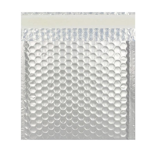230 x 230 Matt Silver Padded Bubble Envelopes [Qty 100]
