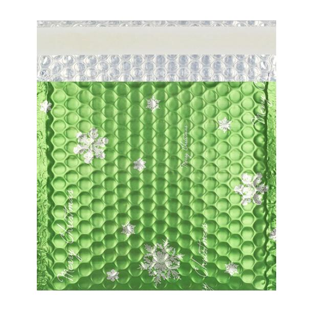 Matt Green Christmas Padded Bubble Envelopes Square [Qty 100] 165mm x 165mm (2131283181657)