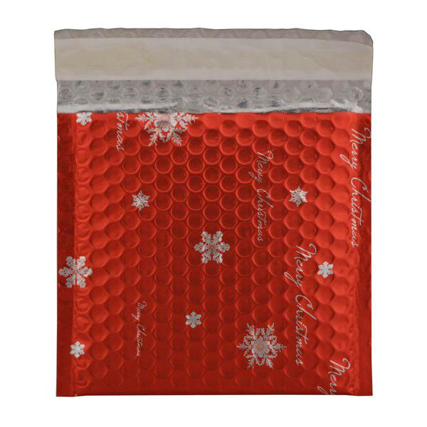 Matt Red Christmas Padded Bubble Envelopes Square [Qty 100] 165mm x 165mm (2131283312729)
