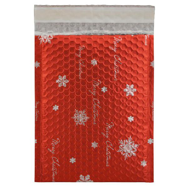 C5+ Matt Red Christmas Padded Bubble Envelopes [Qty 100] 180mm x 250mm (2131283443801)