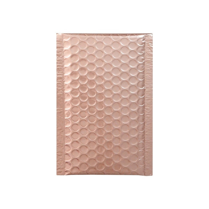 100 x 185 Metallic Rose Gold Blush Padded Bubble Envelopes [Qty 100]
