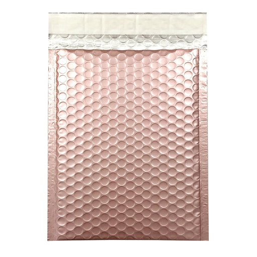 C5+ Metallic Rose Gold Blush Padded Bubble Envelopes [Qty 100] 180mm x 250mm