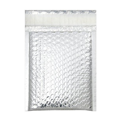 140 x 180 Metallic Silver Padded Bubble Bags [Qty 100] (2131322273881)