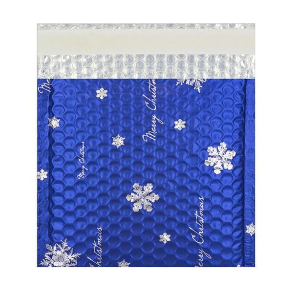 165 x 165 Matt Blue Christmas Padded Bubble Bags [Qty 100] (2131322536025)