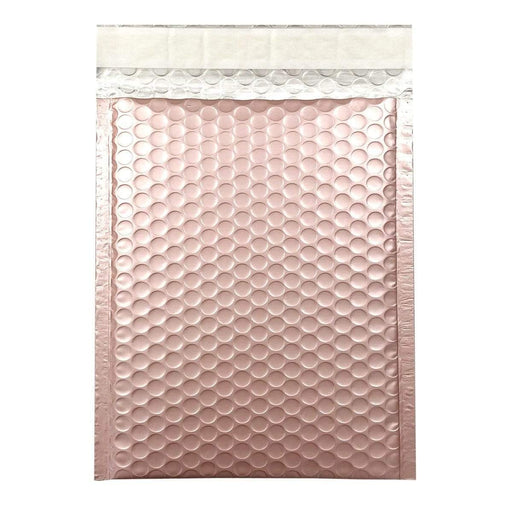 365 x 270mm Matt Rose Gold Blush Padded Bubble Envelopes [Qty 100] (4165959909465)