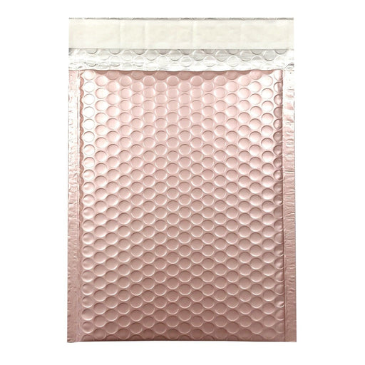 365 x 270mm Matt Rose Gold Blush Padded Bubble Envelopes [Qty 100] (2131493945433)