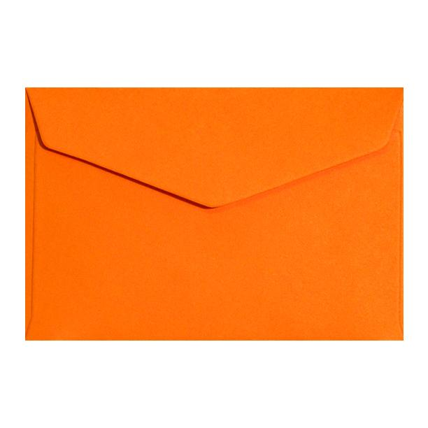 Orange Business Card Envelopes 120gsm Peel & Seal [Qty 250] 62 x 94mm (2131320373337)