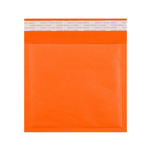 230 x 230 Orange Padded (Paper Finish) Bubble Envelopes [Qty 100]
