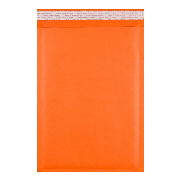 250 x 350 Orange Padded (Paper Finish) Bubble Envelopes [Qty 100] (2131404750937)