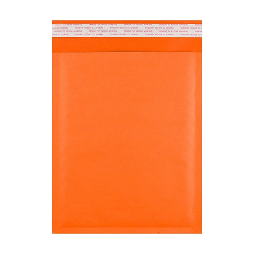 190 x 270 Orange Padded (Paper Finish) Bubble Envelopes [Qty 100] (2131404587097)
