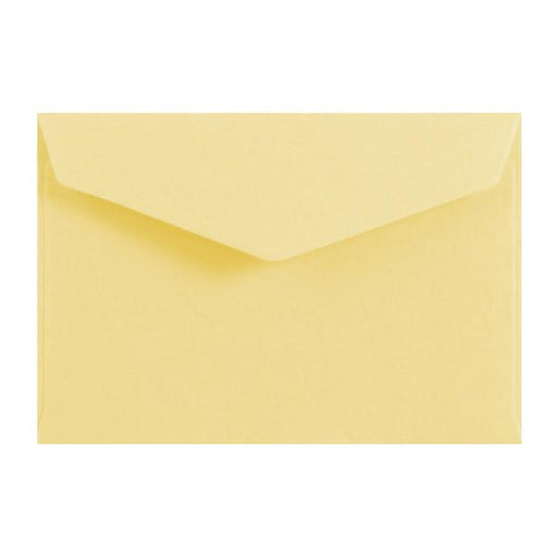 Pastel Yellow Business Card Envelopes 120gsm Peel & Seal [Qty 250] 62 x 94mm