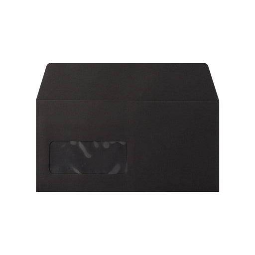 DL Black Window 120gsm Peel & Seal Envelopes [Qty 500] 110 x 220mm