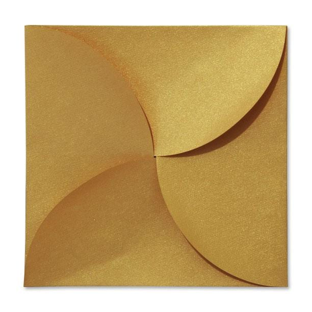 Gold Petal Fold Pochette Envelopes [Qty 100]