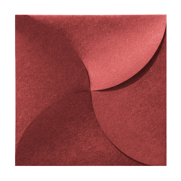 Red Petal Fold Pochette Envelopes [Qty 100]