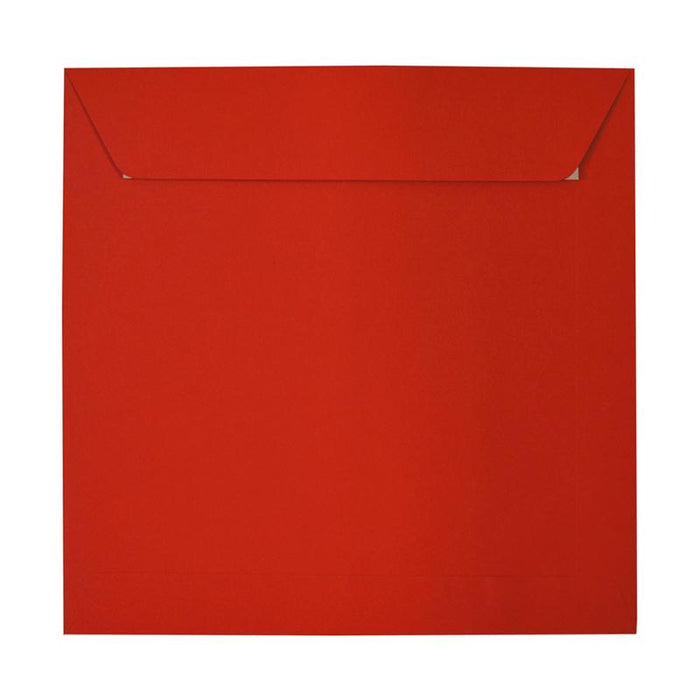230 x 230 Square Poppy Red Peel & Seal Envelopes [Qty 250]