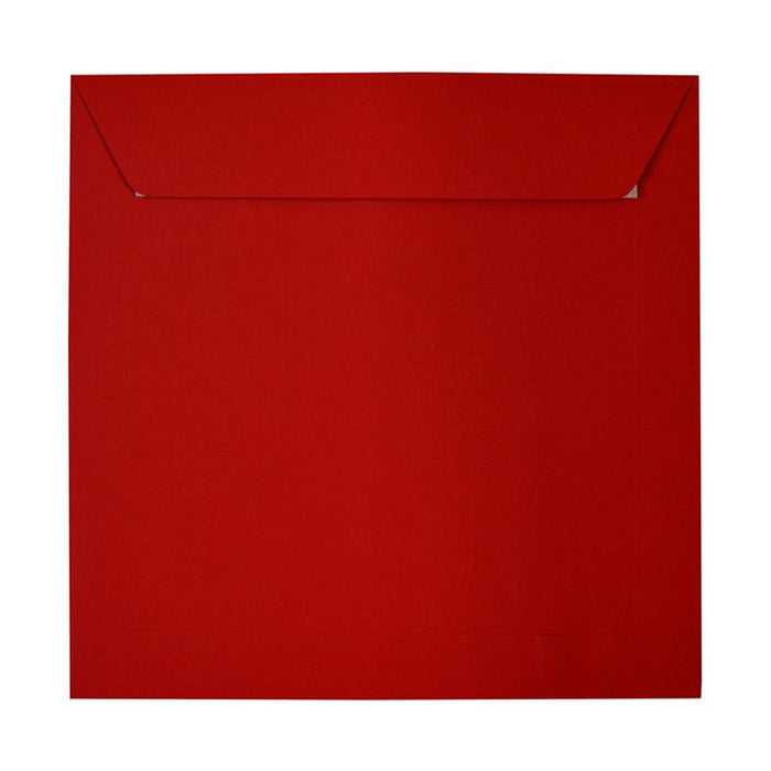 280 x 280mm Square Crimson Red Peel & Seal Envelopes [Qty 250]