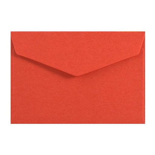 Red Business Card Envelopes 120gsm Peel & Seal [Qty 250] 62 x 94mm