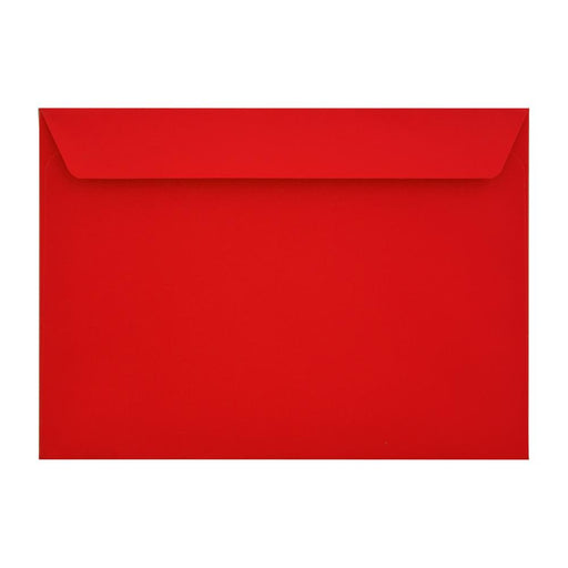 C4 Pillar Box Red 120gsm Peel & Seal Envelopes [Qty 250] 229 x 324mm