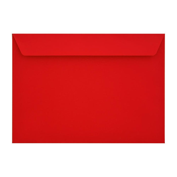 C4 Pillar Box Red 120gsm Peel & Seal Envelopes [Qty 250] 229 x 324mm (2131097616473)