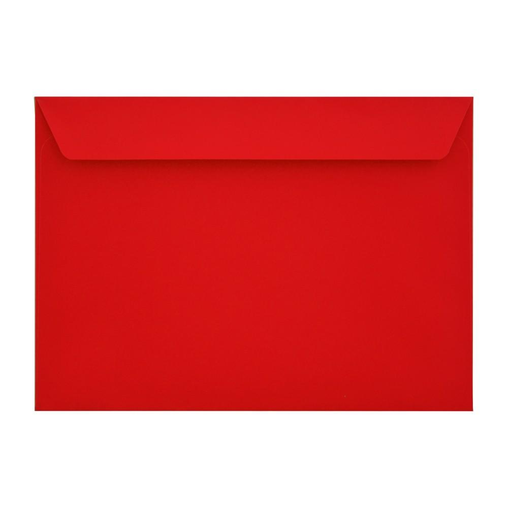 C5 Red Gummed Mailing Wallet 100gsm Envelopes [Qty 500] 162mm x 235mm (2131331809369)