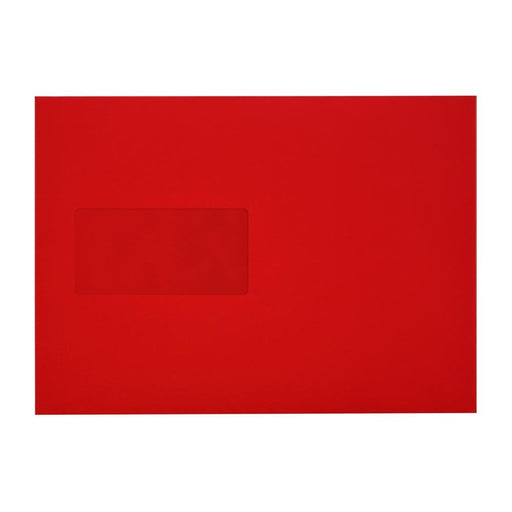 C5 Pillar Box Red Window 120gsm Peel & Seal Envelopes [Qty 250] 162 x 229mm (2131037225049)