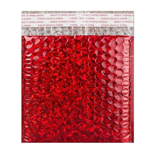 165 x 165 Red Holographic Bubble Bags [Qty 100]