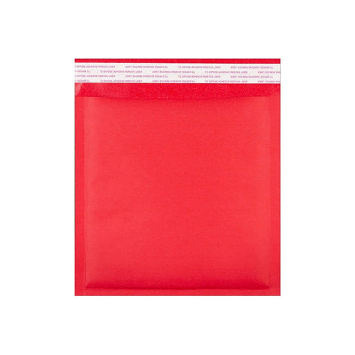 165 x 165 Matt Red Padded (Paper Finish) Bubble Envelopes [Qty 100] (2131284426841)