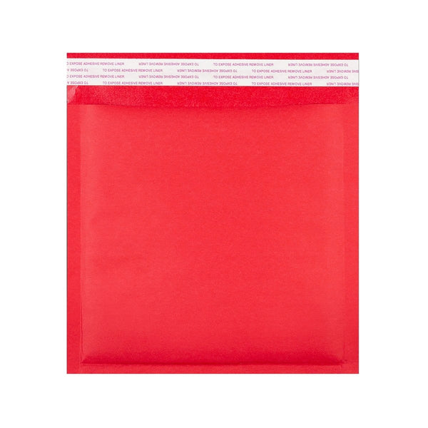 230 x 230 Matt Red Padded (Paper Finish) Bubble Envelopes [Qty 100]
